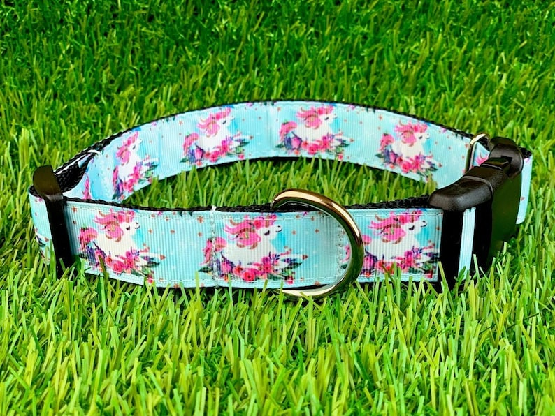 Unicorn Dog Collar Dog Leash or Matching Set w Unicorn image 0