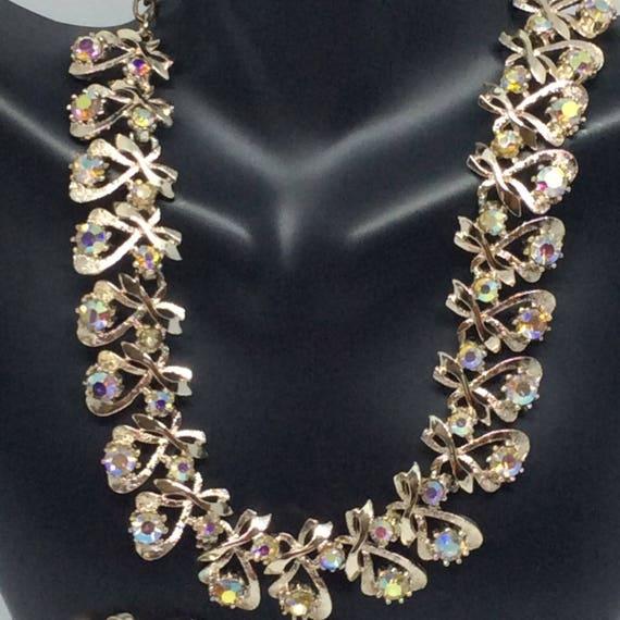 Vintage set Signed ART necklace set - image 9