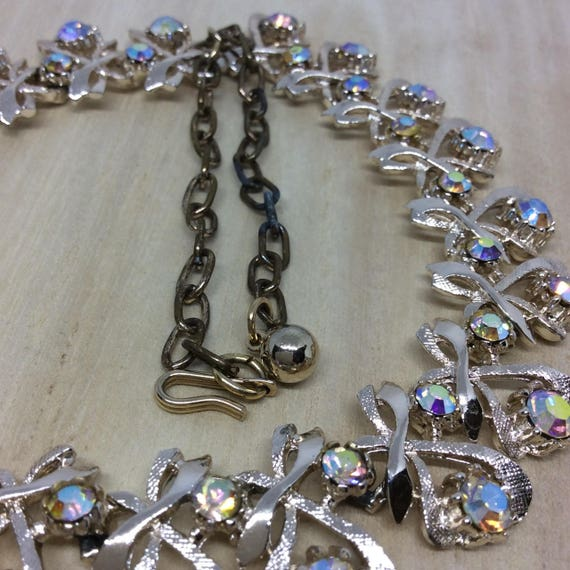 Vintage set Signed ART necklace set - image 3