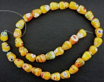 quality pineapple yellow tear drop flower beads