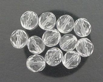 12  crystal czech fire crystal beads 8mm