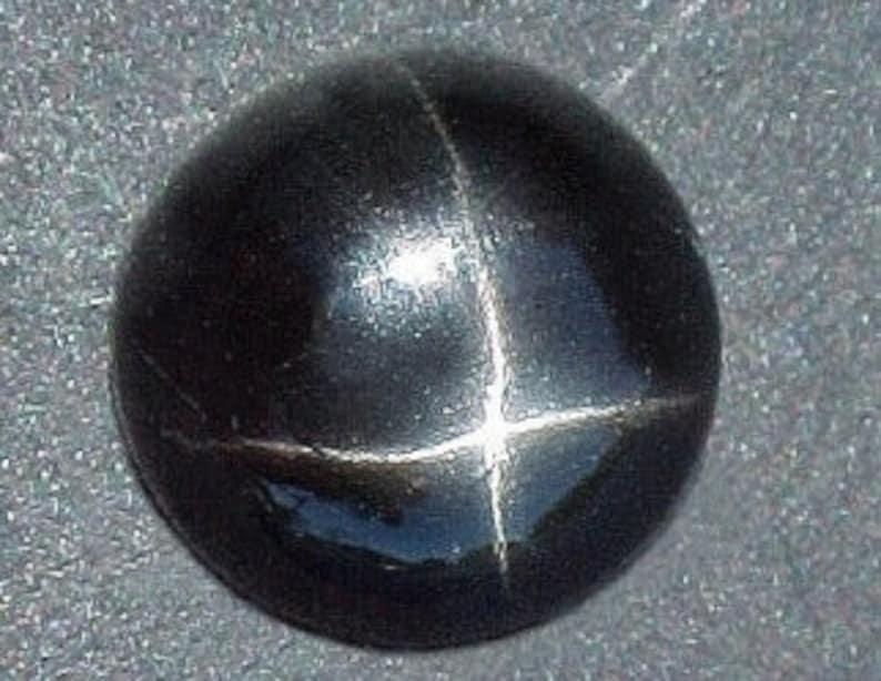 11mm round black star diopside cabochon gem gemstone