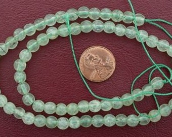 6mm round gemstone prehinite jade beads