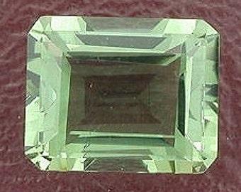 10x8 emerald-cut  green quartz gem stone gemstone