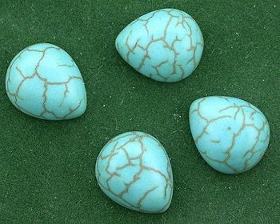 8-8x6 Synthetic Turquoise Cabochon Gem Stone Gemstone