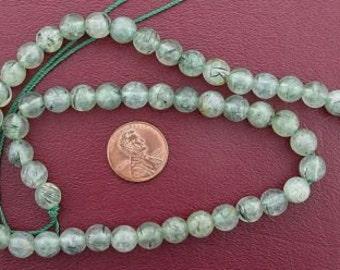 8mm round gemstone prehinite jade beads