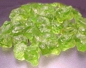 125 carats of peridot crystal rough