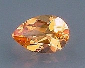12x8 pear madeira color quartz gem stone gemstone