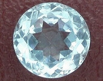 1 - 8mm round sky blue topaz gem stone gemstone faceted