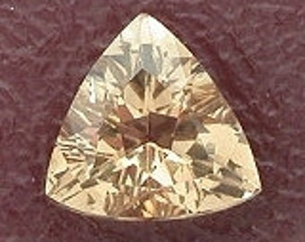 3mm triangle trilliant champagne topaz gemstone gem