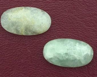 1 - 23x13 oval prehinite jade cabochon gem gemstone