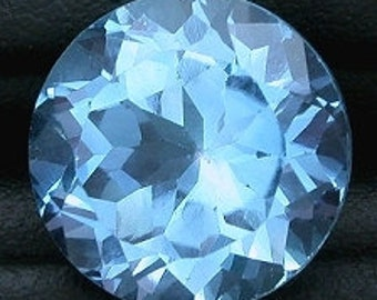 12mm round sky blue topaz gem stone gemstone faceted ebs488