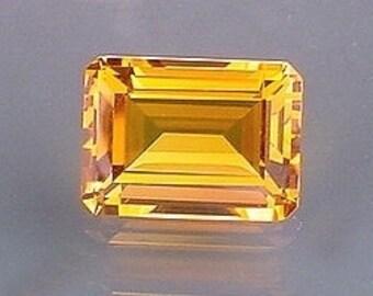 14x10 emerald cut  madeira color quartz gem stone gemstone