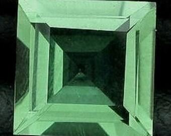 8mm square green  quartz gem stone gemstone