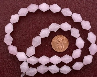 12x10 bicone gemstone rose quartz gem beads