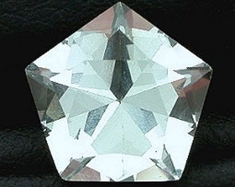 11mm pentagon blue quartz  gem stone gemstone