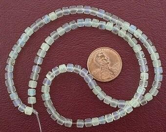 4mm drum gemstone pineapple quartz beads