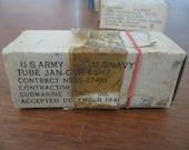1944 Ken Rad 6SH7 Vacuum Tube JAN CHR Military Black Glass New Old stock