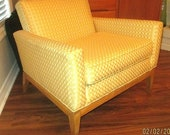 1950s HEYWOOD WAKEFIELD Living Room Arm CHAIR New Upholstery Mid Century Mod Eames Retro Thayer Knoll Teak Danish