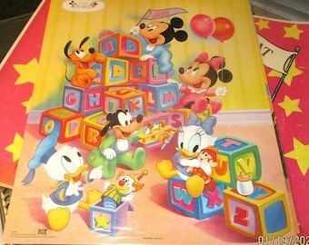 DISNEY PRINT,MICKEY MINNIE DONALD PLUTO GOOFY LICENSED OSP NOS 1990/'s MATTED