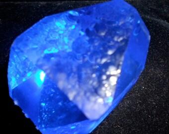 SIBERIAN BLUE QUARTZ Crystal*992 carats*Energized in Mt Shasta Vortex*Stimulates Third Eye*Angel Number Seven