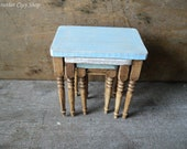 Dollhouse miniature set of nesting tables in 1 12 or 1 quot scale