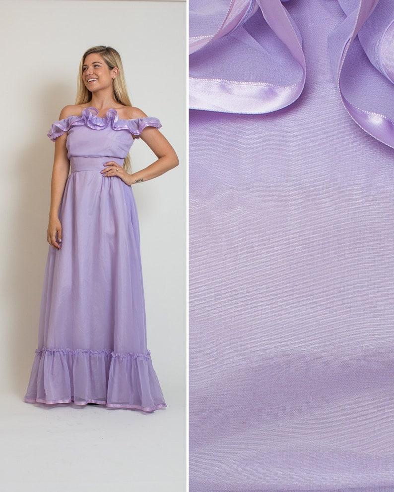 6c9b06d0939e 70s PROM DRESS vintage purple ruffle 70s BRIDESMAID dress | Etsy
