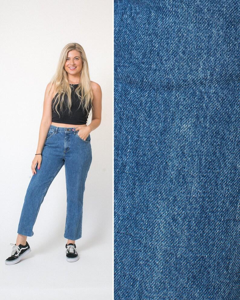 65e778fcf8c27 CROPPED jeans vintage blue jeans denim MOM JEANS mid rise Lee 90s jeans 90s  clothes grunge nineties 32 waist jeans 32w women's jeans