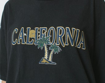 CALIFORNIA t-shirt vintage 90s mens woman's black LARGE xl California tee shirt short sleeve crew neck t shirt