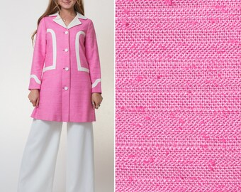 60s coat- Vintage coat- PINK- MOD- Jackie Kennedy- 1960s coat- SIXTIES coat