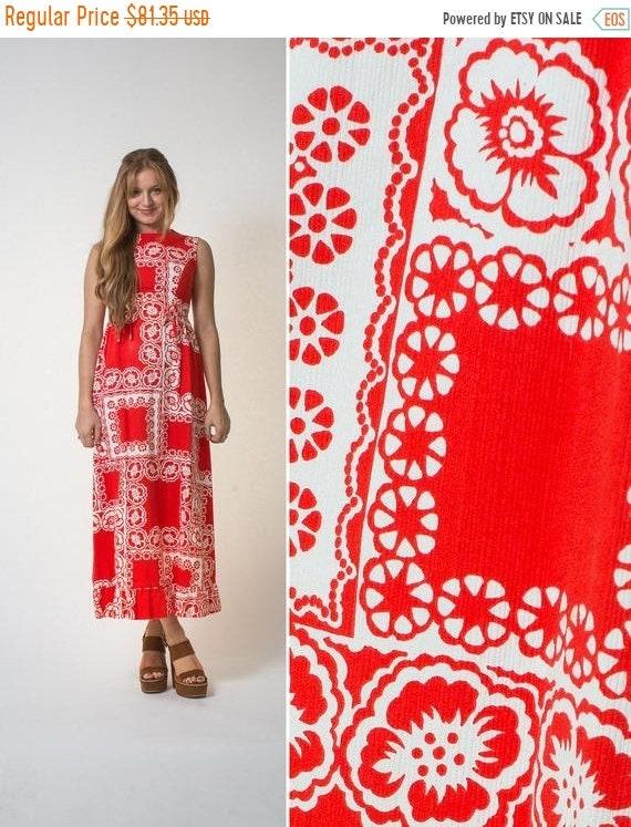 On sale Malia Honolulu dress vintage SIXTIES red … - image 1