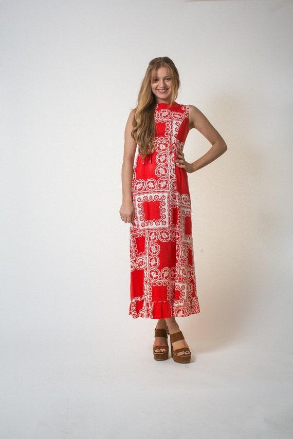 On sale Malia Honolulu dress vintage SIXTIES red … - image 2