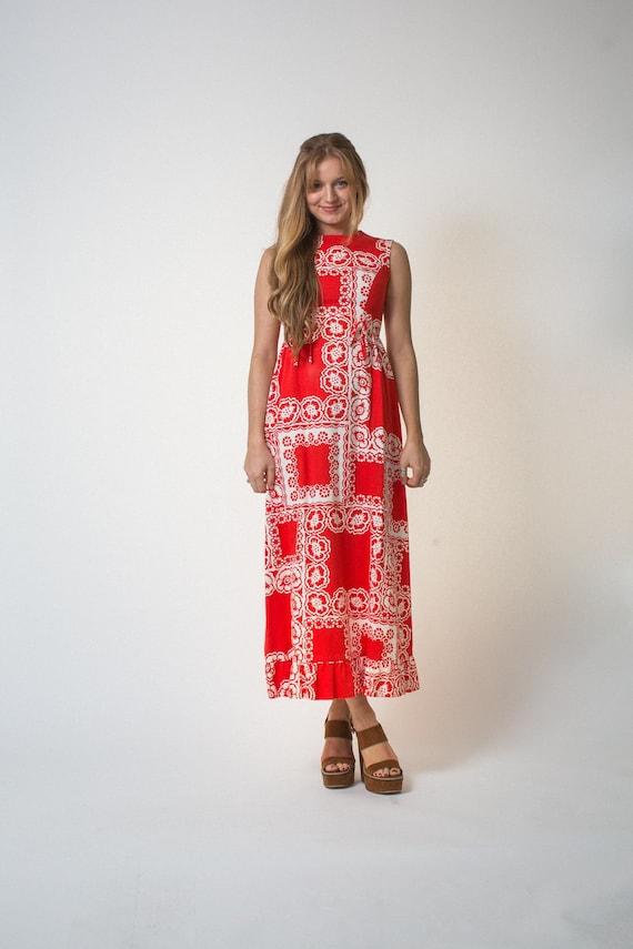On sale Malia Honolulu dress vintage SIXTIES red … - image 5