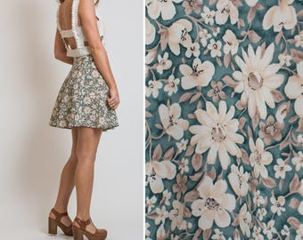 Vintage FLORAL All that Jazz 90s SUMMER Skirt Vtg Mini SKIRT