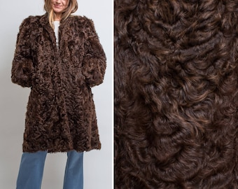 Duplers Fur COAT vintage 60s 70s genuine luxury OVERSIZED Midi real Chocolate Brown FUR Coat Jacket
