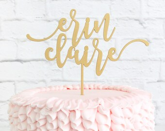 Birthday Cake Topper Custom Name DIY