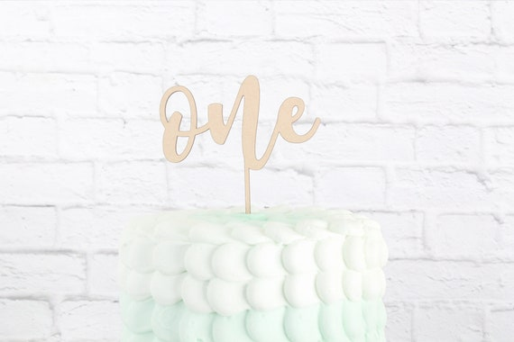 Birthday Cake Topper First Number