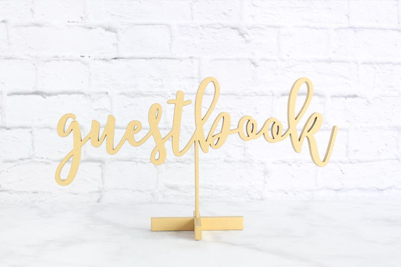 Guestbook Sign Wedding Table Labels Wedding Guestbook Sign image 0