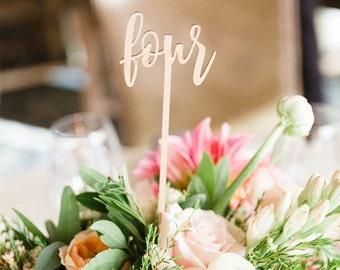 Wedding Table Numbers, Script Table Numbers, Rustic Table Numbers, Calligraphy Table Numbers, Wedding Decor, DIY Table Numbers