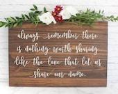 Wedding Sign, Rustic Wedding Sign, Custom Wedding Sign, Wedding Gift, Wedding Signage, Custom Quote Wedding Gift