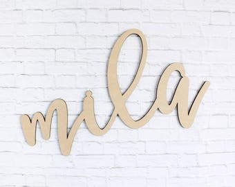 Custom MDF Wood Name, Personalized Wood Name, Wood Name Sign, Baby Name Sign, Nursery Decor