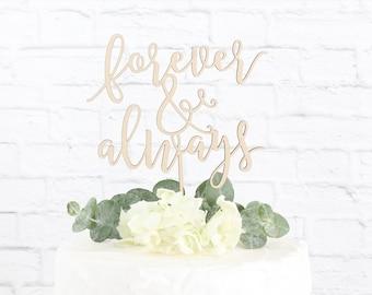 Forever and Always Wedding Cake Topper, Forever Always Cake Topper, Wedding Cake Topper, Rustic Cake Topper, Cake Topper, DIY Cake Topper