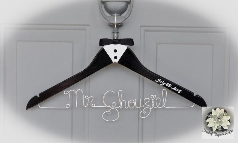 GROOM  CUSTOM NAME Coat Hanger Custom Name Wedding Hanger Father of the Bride Father of the Groom Bestman Groomsman Ring Bearer