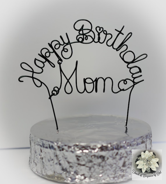 happy birthday mom cake topper mother s day gift etsy