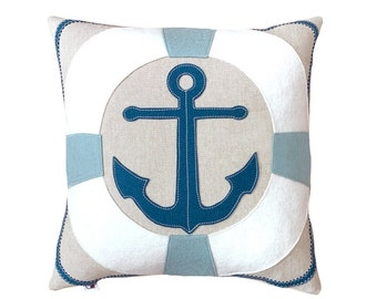 Anchor + Lifesaver - Aqua + White