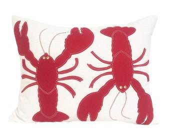 Two Lobsters - Red