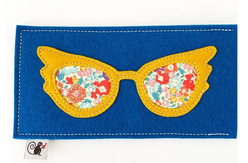Glam Eyeglass Case  Gold  Teal image 0