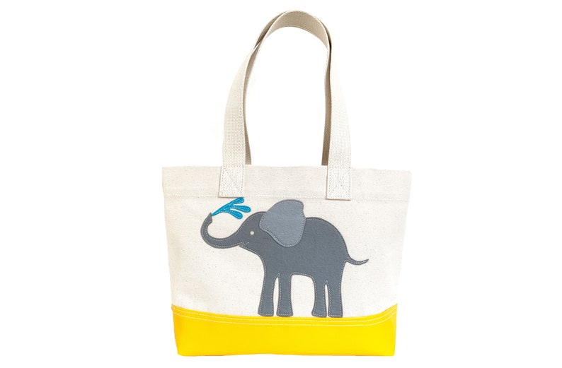 Elephant Tote  Yellow  Natural image 0