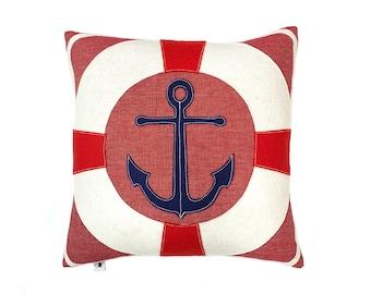 Anchor + Lifesaver - Red Chambray