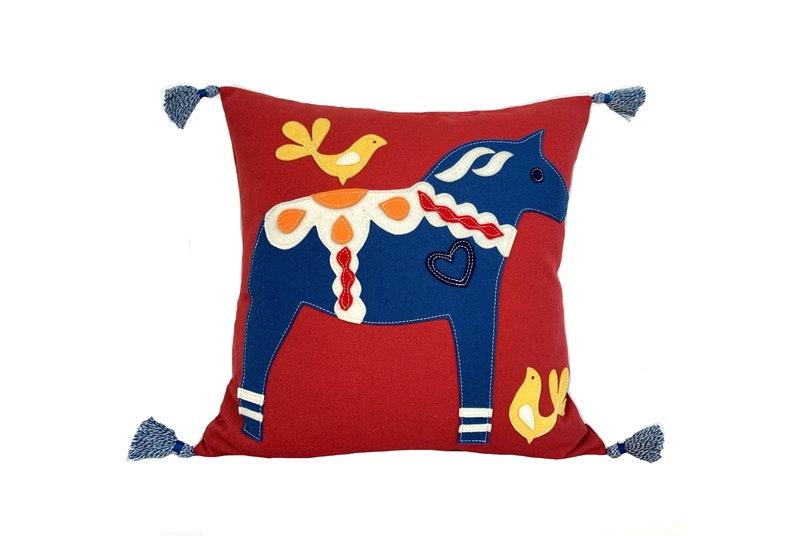 Dala Horse  Blue  Red image 0